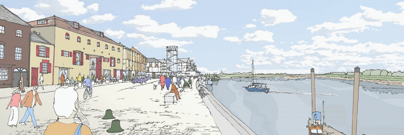 Artists impression of the Nelson Quay development
